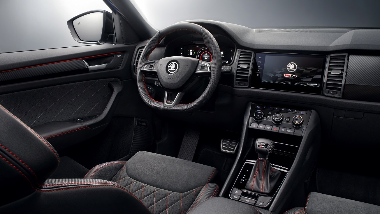 2019 skoda kodiaq vrs interior revealed. Black Bedroom Furniture Sets. Home Design Ideas