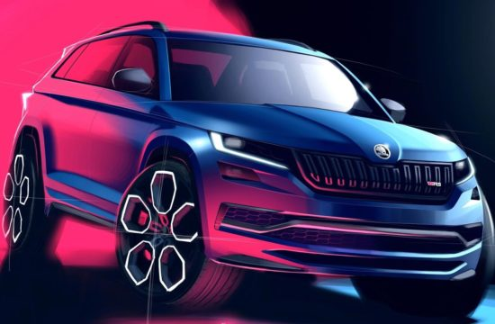 Skoda Kodiaq vRS rndr 1 550x360 at 2019 Skoda Kodiaq vRS Revealed in Official Renderings