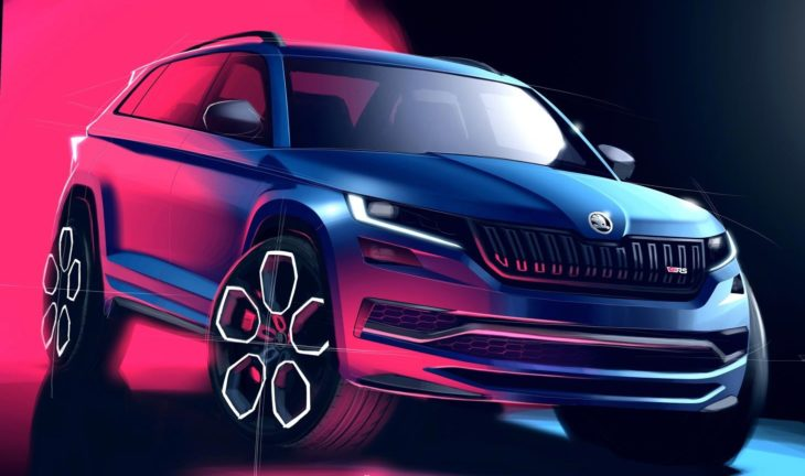 Skoda Kodiaq vRS rndr 1 730x432 at 2019 Skoda Kodiaq vRS Revealed in Official Renderings