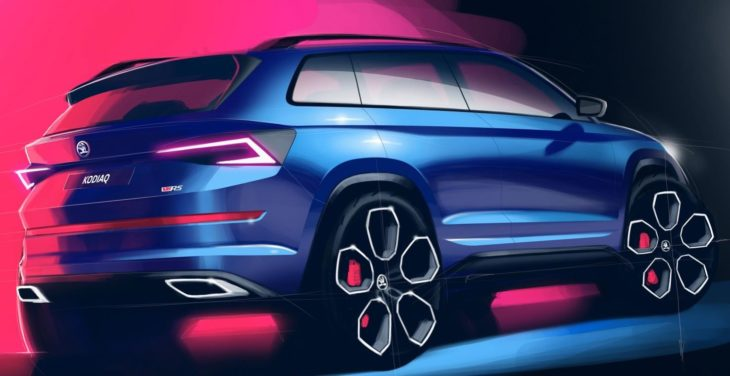 Skoda Kodiaq vRS rndr 2 730x376 at 2019 Skoda Kodiaq vRS Revealed in Official Renderings