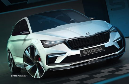 VISION RS sketch exterior 01 550x360 at Skoda Vision RS Revealed in Official Sketches
