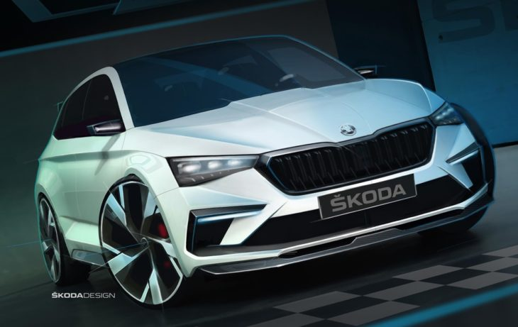 VISION RS sketch exterior 01 730x461 at Skoda Vision RS Revealed in Official Sketches