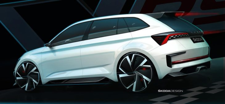 VISION RS sketch exterior 02 730x340 at Skoda Vision RS Revealed in Official Sketches