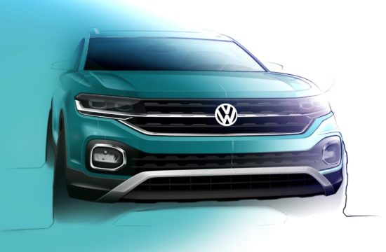 Volkswagen T Cross sketch 550x360 at Volkswagen T Cross Shows More of Itself in Official Renderings