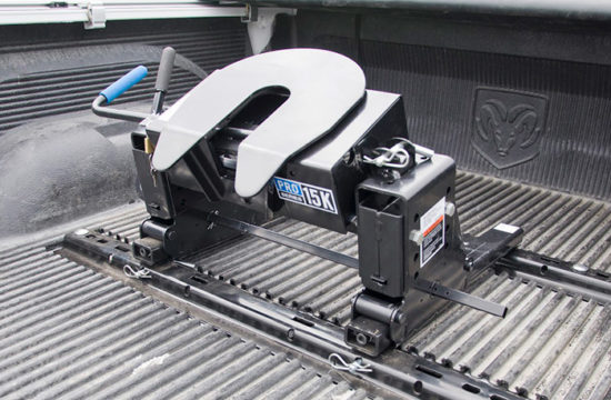 fifth wheel hitch 550x360 at Fifth Wheel Hitch Or Gooseneck: Which Is Right For Towing Fifth Wheel Trailer?
