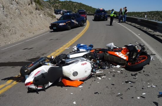 Motorcycle Crash 550x360 at Minding the Surroundings: What Are the 7 Most Common Causes of Motorcycle Crashes?
