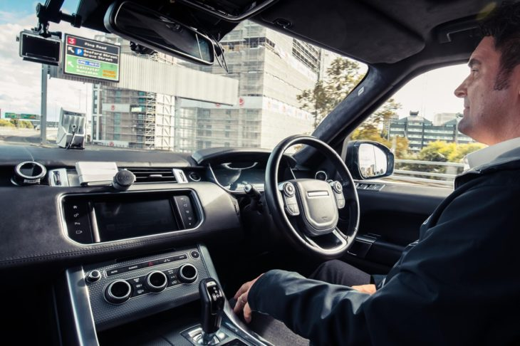 Self Driving Range Rover Sport 3 730x486 at 5 of the Most Crucial Automotive Industry Challenges