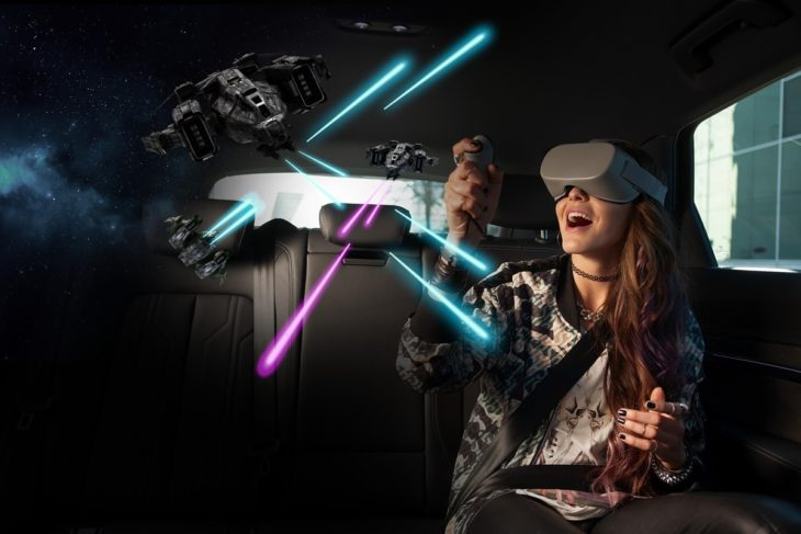 audi virtual reality e tron 730x487 at Virtual Reality Is the Latest Automotive Craze @ CES 2019