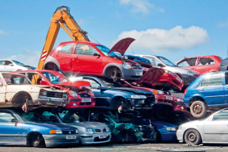 cars scrap yard 730x487 at A Simple Guide to Scrapping Your Car