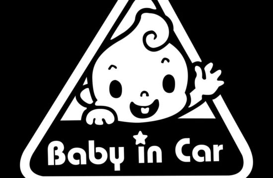 baby in car 550x360 at Preparing Your Car for a New Baby