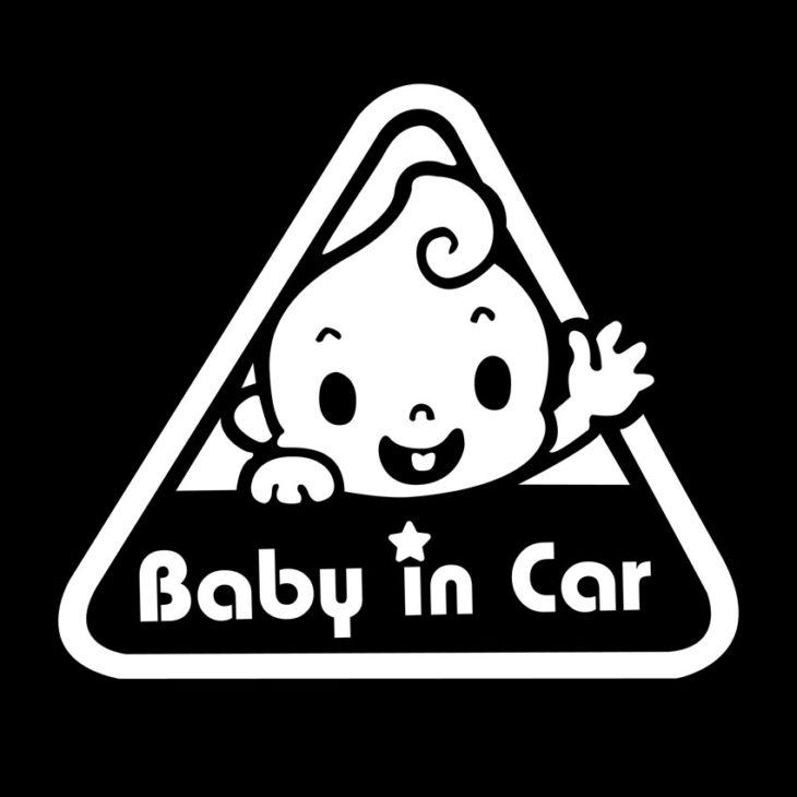 baby in car 730x730 at Preparing Your Car for a New Baby