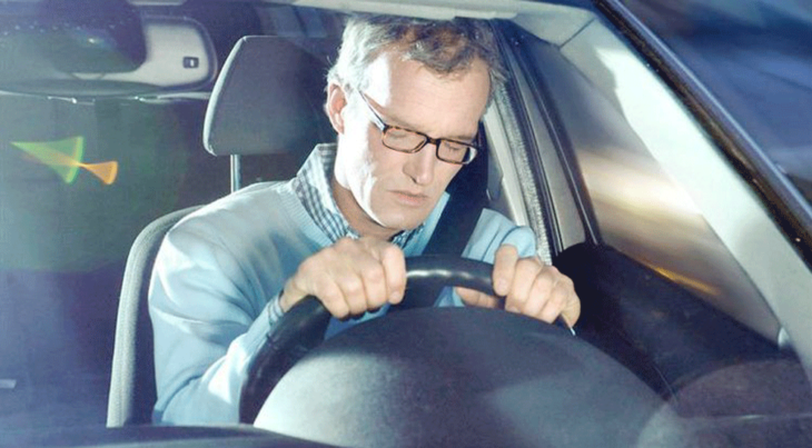 sleeping driver 730x403 at Steps to Keeping Healthy When You Drive a Lot
