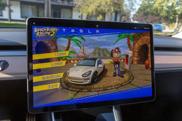 tesla games 730x487 at Teslas In Car Racing Video Games