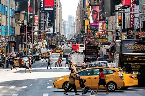 busy intersection nyc at Why Autonomous Vehicles Need a New Purpose Built Solution