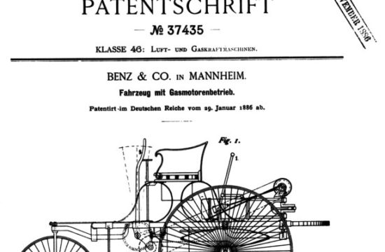 Patent 37435 550x360 at Patent No. 37435   the first automobile (or was it?)