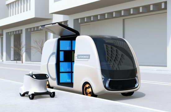 automous van 550x360 at Autonomous Vehicles and Last Mile Delivery