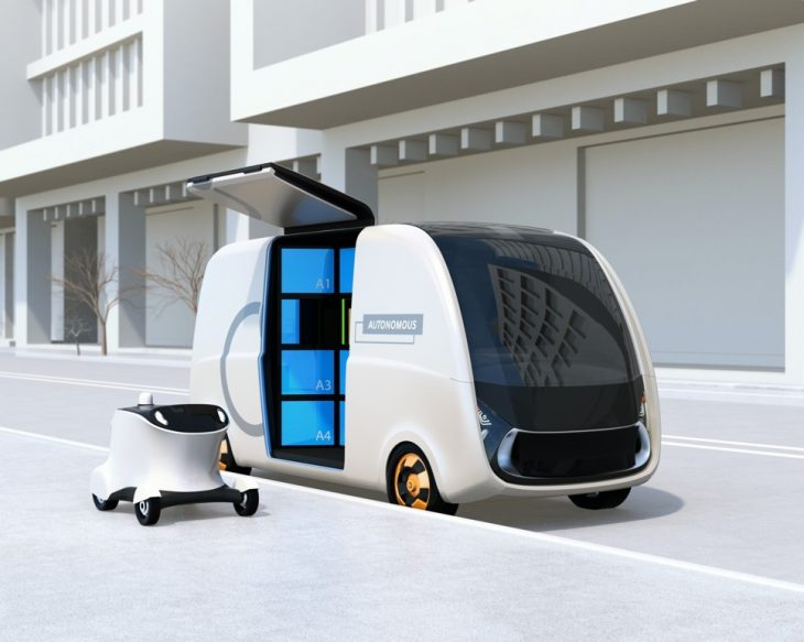 automous van 730x583 at Autonomous Vehicles and Last Mile Delivery