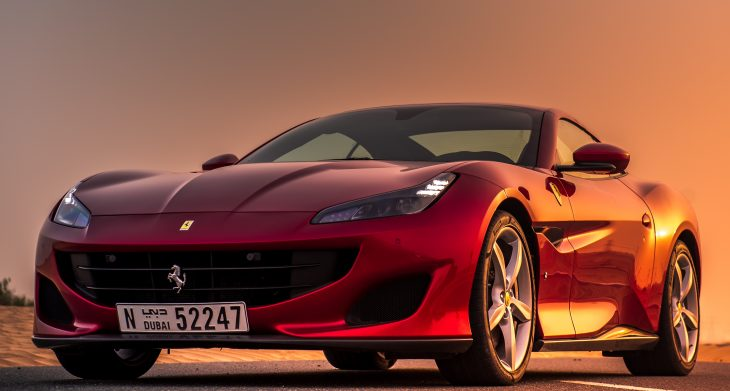 181026 car The Ferrari Portofino Picture Perfect in the UAE @therollingprodigee 1 730x391 at Renting a Ferrari in Dubai (Never go to Lurento)