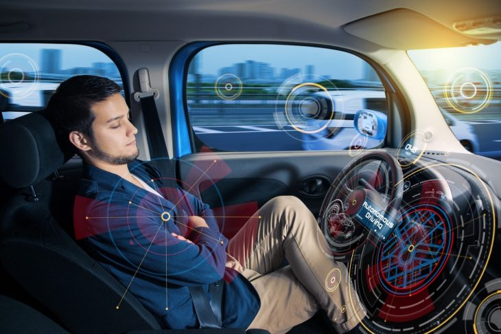 Human Passenger in Autonomous Vehicle 730x486 at Autonomous Vehicles and the Consumer