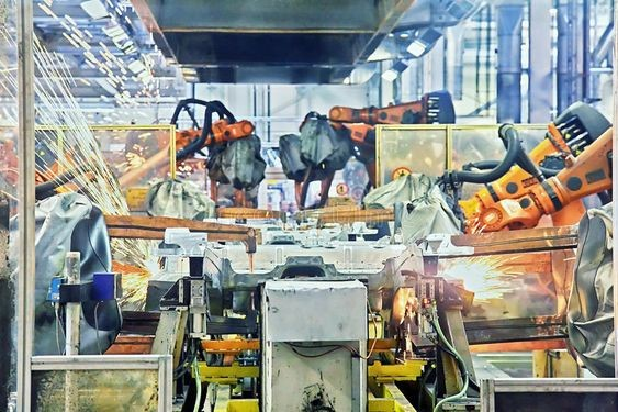 automotive factory 2 at Top Robotic Applications in the Automobile Manufacturing Industry