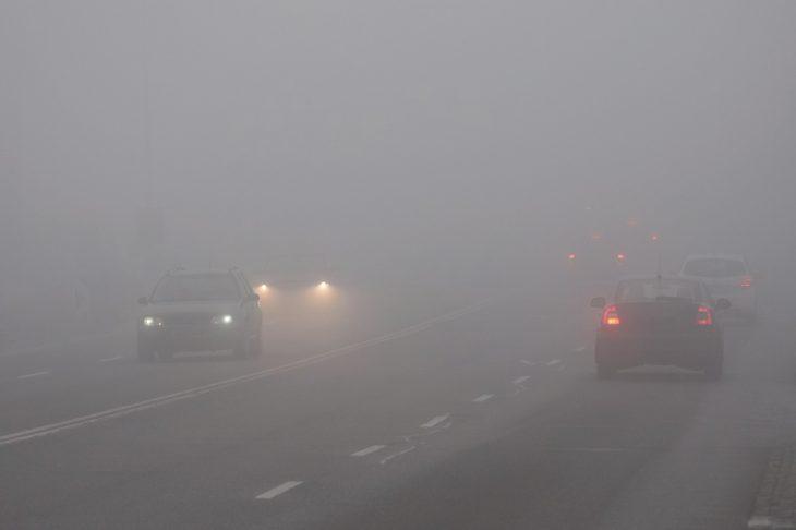 fog driving 730x486 at How Autonomous Vehicles Navigate Dangerous Lighting Conditions