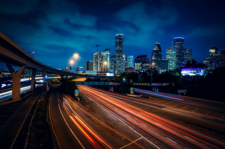 houston night view 730x486 at Distracted Driving in Houston   How Bad is the Problem?