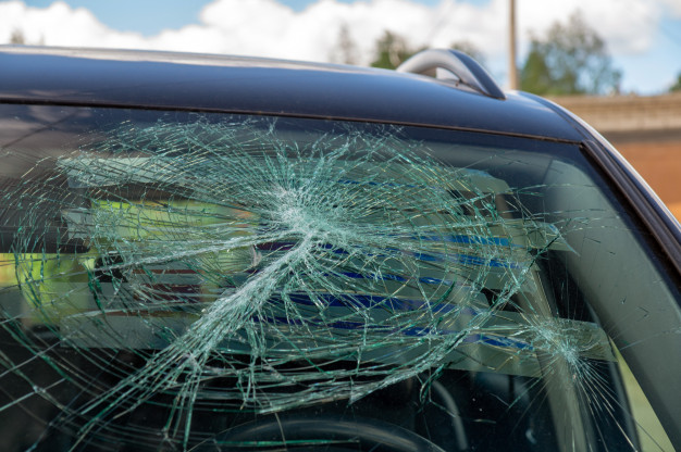 broken winshield at Five Reasons Phoenix is the #1 Windshield Replacement Hotspot in the USA