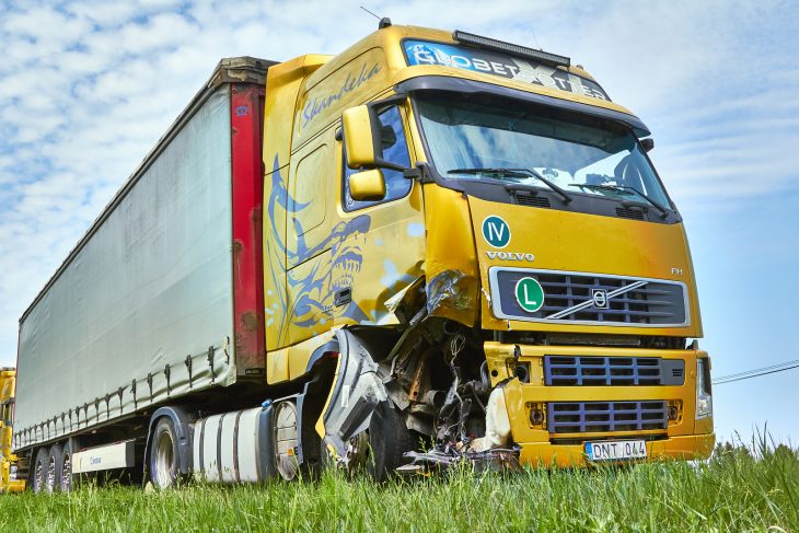 truck after collision 730x487 at Trucking Accidents Are a Serious Issue