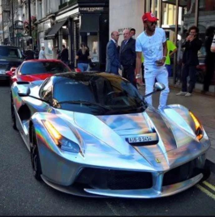 Pierre Emerick Aubameyang la ferrari at The 5 Premier League players with the most expensive cars
