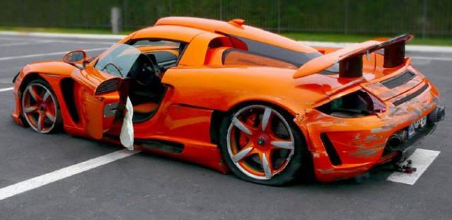 Gemballa Mirage GT smashed at track day!
